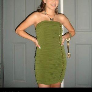 Jessica McClintock olive dress